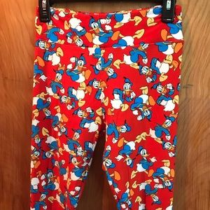 LuLaRoe One Size Donald Duck Leggings